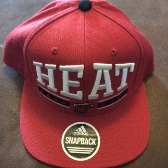 cf32f7f1385 Adidas Miami Heat Snapback Hat